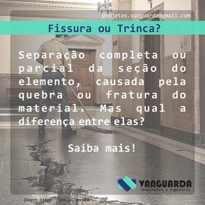 Fissura ou Trinca?