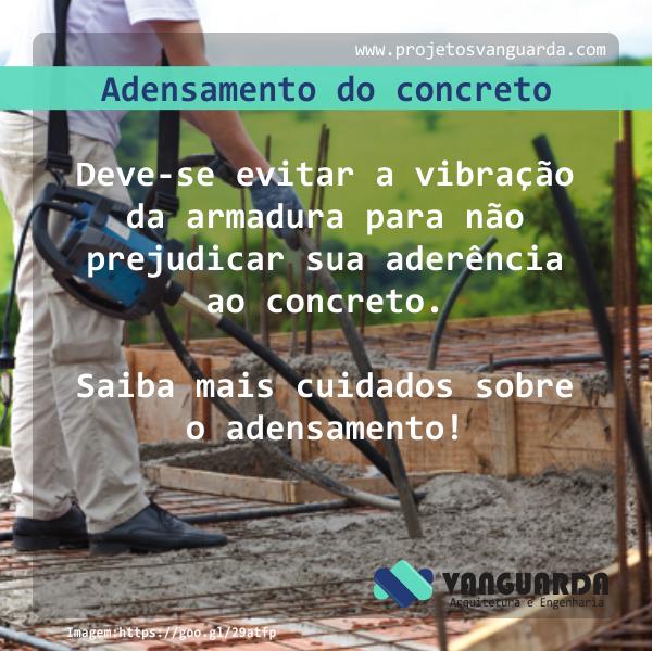 Adensamento do concreto