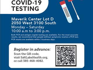 Free COVID Testing - Pruebas COVID gratuitas