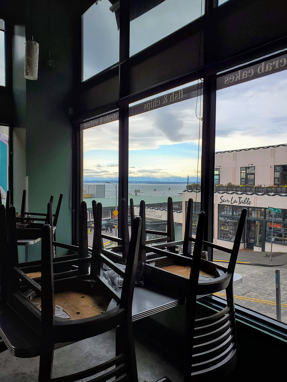 One of my third places was The Steelhead Diner. The Davis restaurants were perhaps the first to close down in the wake of the coronavirus. This restaurant was also a Pike Place Market favorite for locals and visitors alike.