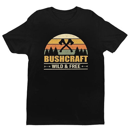 "Camiseta BUSHCRAFT ""Wild & Free"""