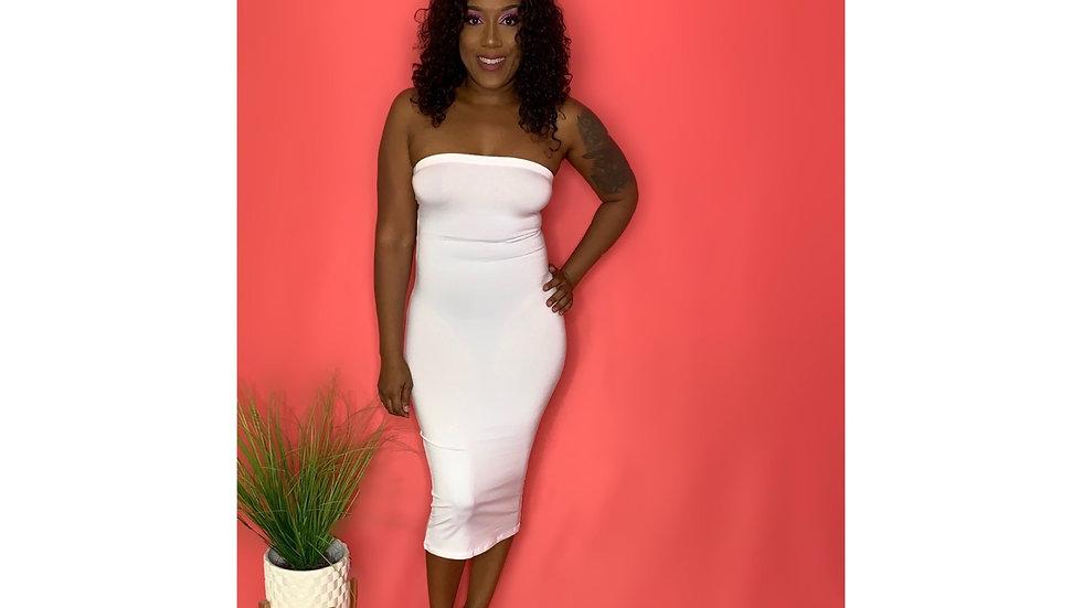 Bad Girl Tube Dress (White)