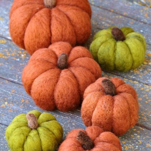 THU Needle Felted Pumpkins
