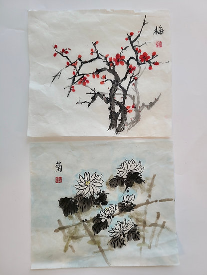 Rice Paper Blossoms & Lotuses