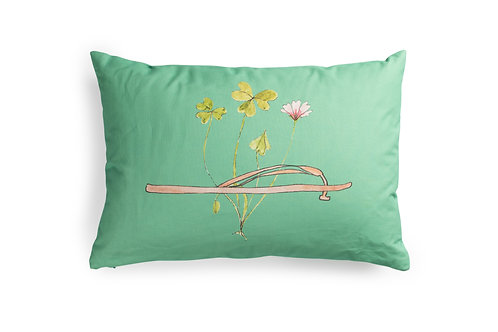 Green Cushion with Pink FlipFlop, 60x40cm
