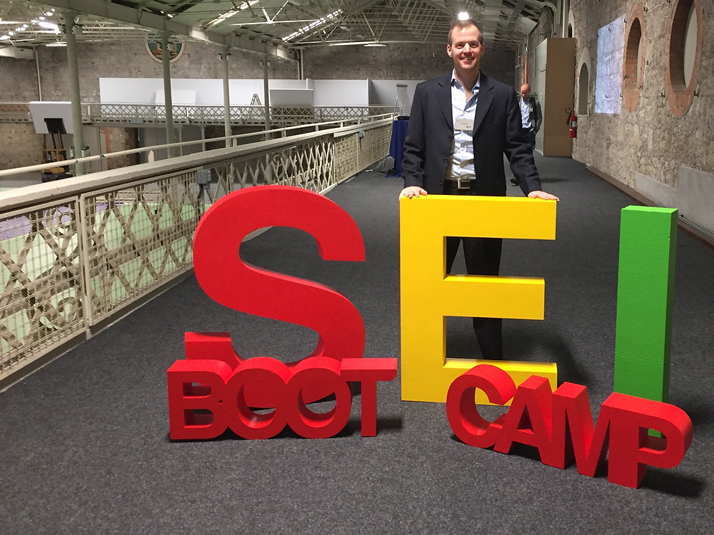 Kevin at the SEI Bootcamp