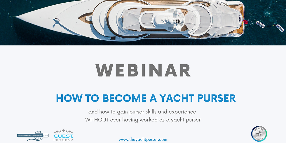 Free webinar: How to become a yacht purser