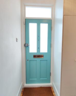 Wooden Front Door. London. Beckenham