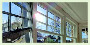 Old_New. Wooden Sash Windows