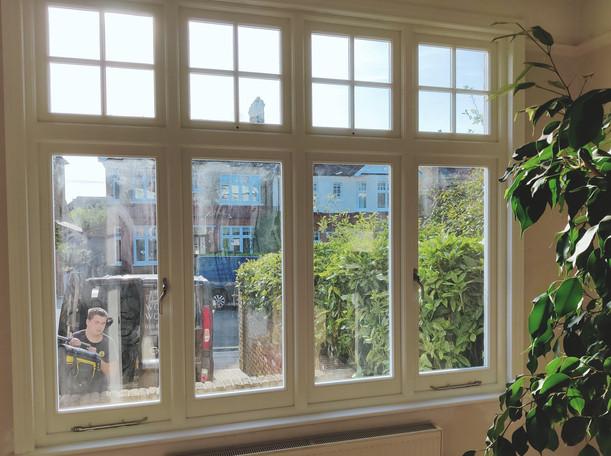House in Eltham. Wooden Casement Window
