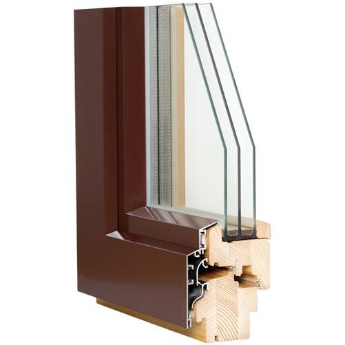 Alu clad wooden window