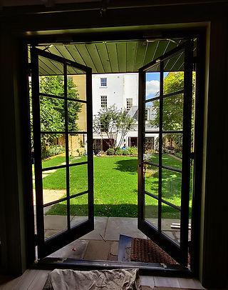 House in Ealing. Wooden Patio Doors