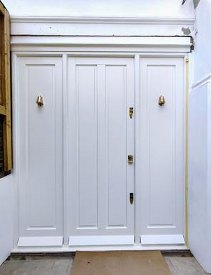Wooden Front Door with side panels