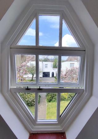 Restoration. Wooden window