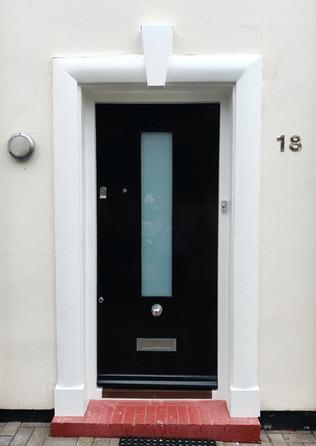 Blackheath. Front door restoration