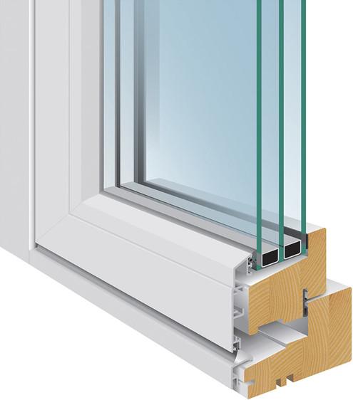 Alu clad wooden windows