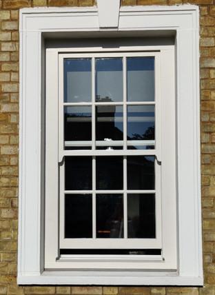 Greenwich. Wooden sash window