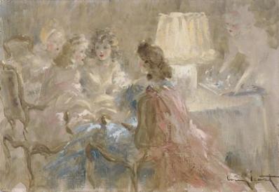 Louis ICART (1888-1950) - Le Thé - Adjug