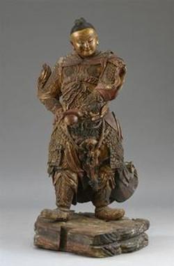 Grand gardien de temple, Chine XVIIè
