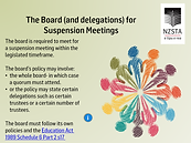 Boards delegations for suspension meetin