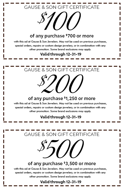 Gause & Son Gift Certificate