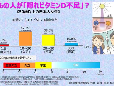 90%の人が「隠れビタミンD不足」?:50歳以上の日本人女性