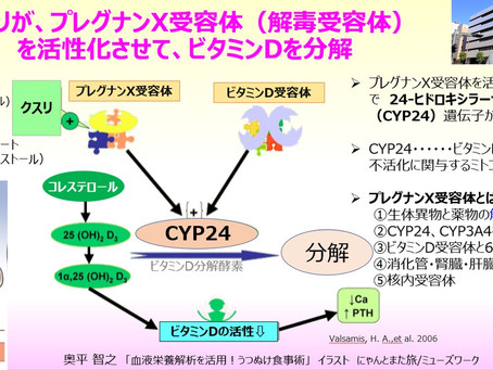 クスリが、プレグナンX受容体(解毒受容体)を活性化させてビタミンDを分解する可能性~抗てんかん薬・ステロイド・胆汁酸・セントジョンズワ―ト・コーヒー~