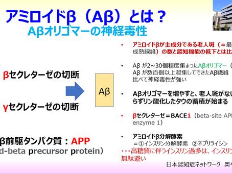アミロイドβ(Aβ)とは?:アデュカヌマブ:アミロイドβオリゴマー:認知症対策は食事から:日本認知症ネットワーク