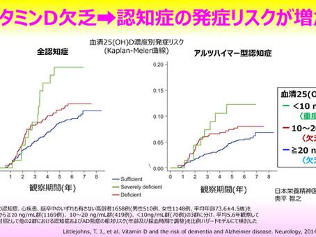 ビタミンD欠乏は、認知症の発症リスクを増加させる