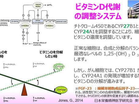 ビタミンD代謝の調整システム:チトクローム450(CYP27B1・CYP24A1)、ビタミンD代謝阻害剤FGF-23(線維芽細胞成長因子-23)