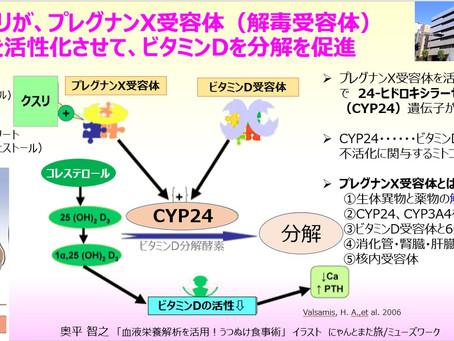 クスリが、プレグナンX受容体(解毒受容体)を活性化させてビタミンDを分解を促進する可能性~抗てんかん薬・ステロイド・胆汁酸・セントジョンズワ―ト・カフェストール~