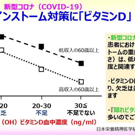 サイトカインストーム対策として期待されるビタミンD:新型コロナ(COVID-19):「隠れビタミンD欠乏」重症化(炎症)のリスク因子