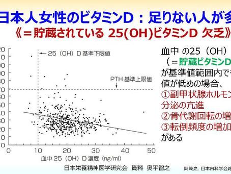 日本人女性におけるビタミンD欠乏