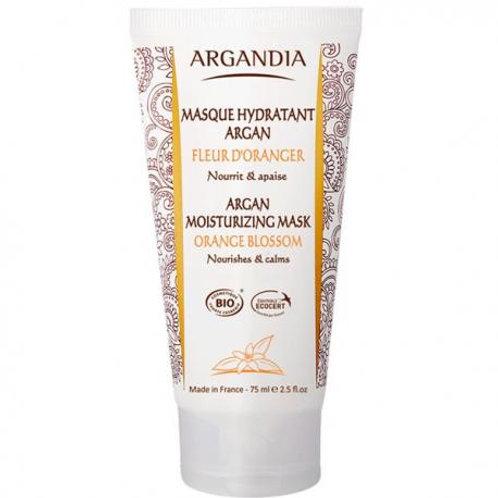 masque hydratant à la fleur d'oranger bio argandia