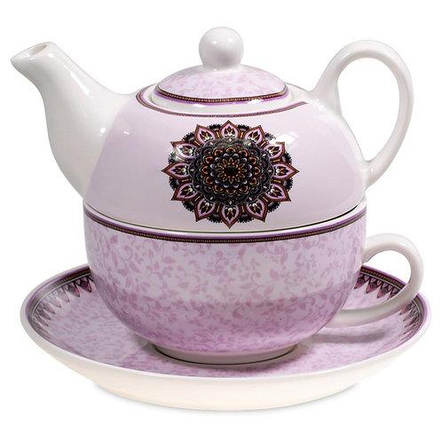théière mandala violet