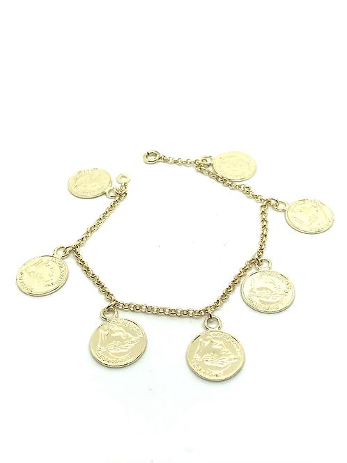 Bracelet louis d'or plaqué or