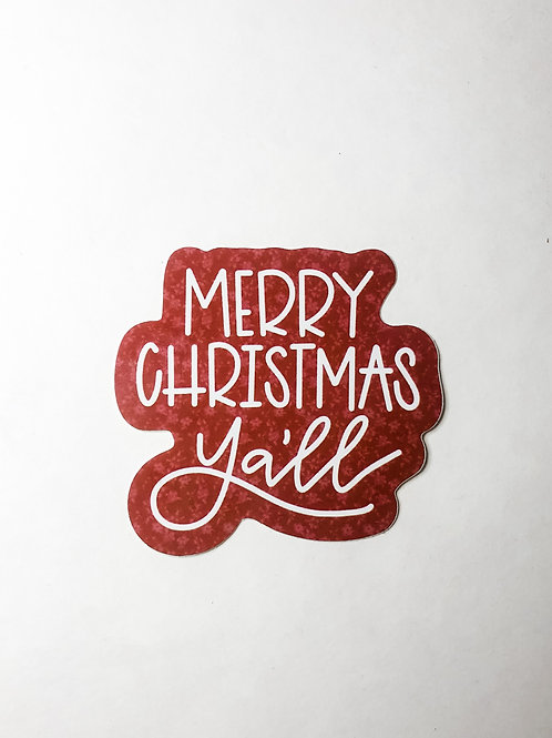 Merry Christmas Y'all Sticker