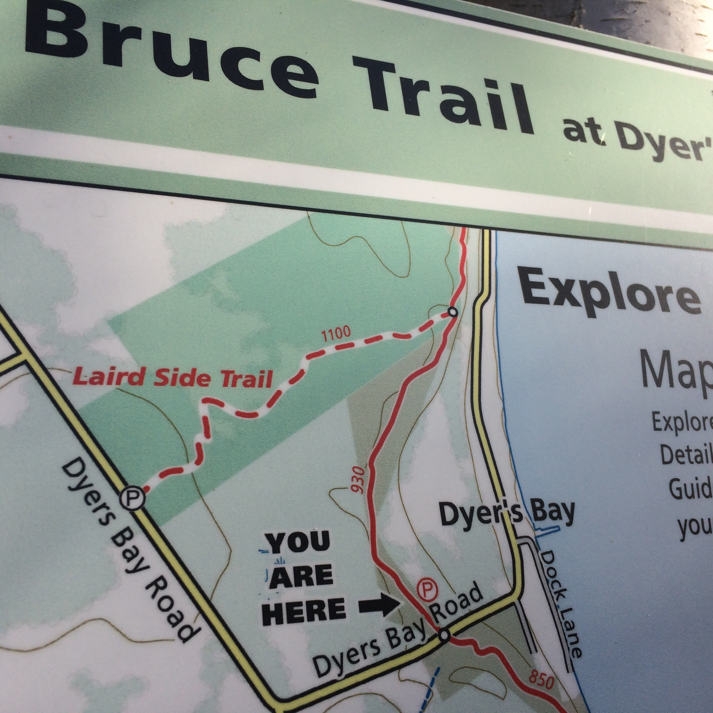 Dyers Bay Bruce Trail access