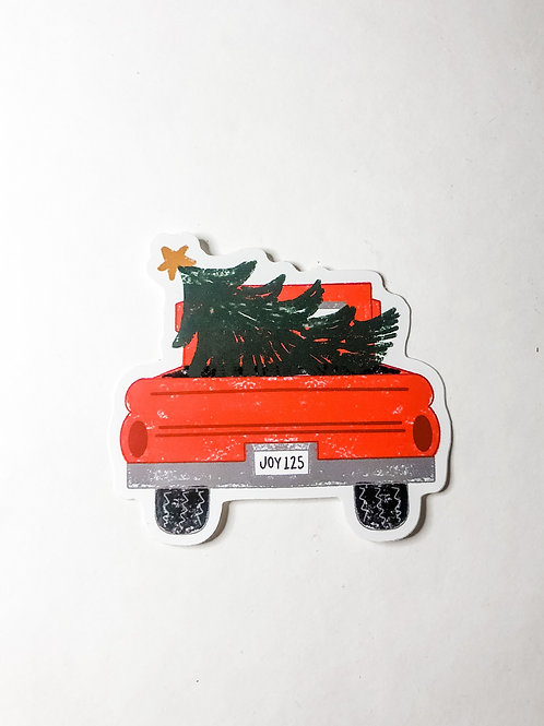 Holiday Truck Sticker