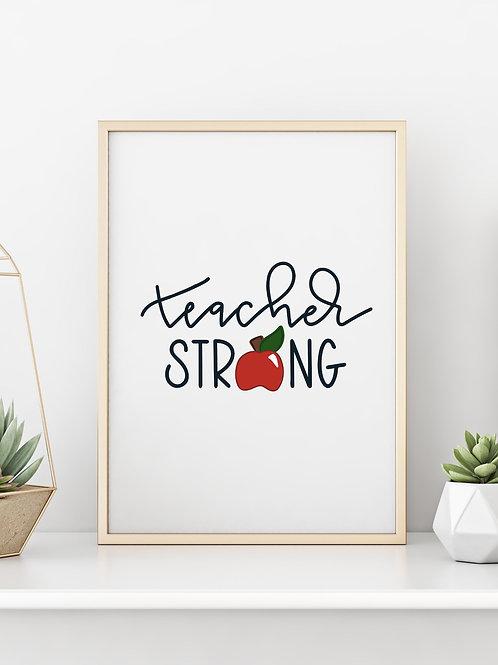 TEACHER STRONG Wall Art