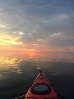 Sunrise kayak on Dyers Bay