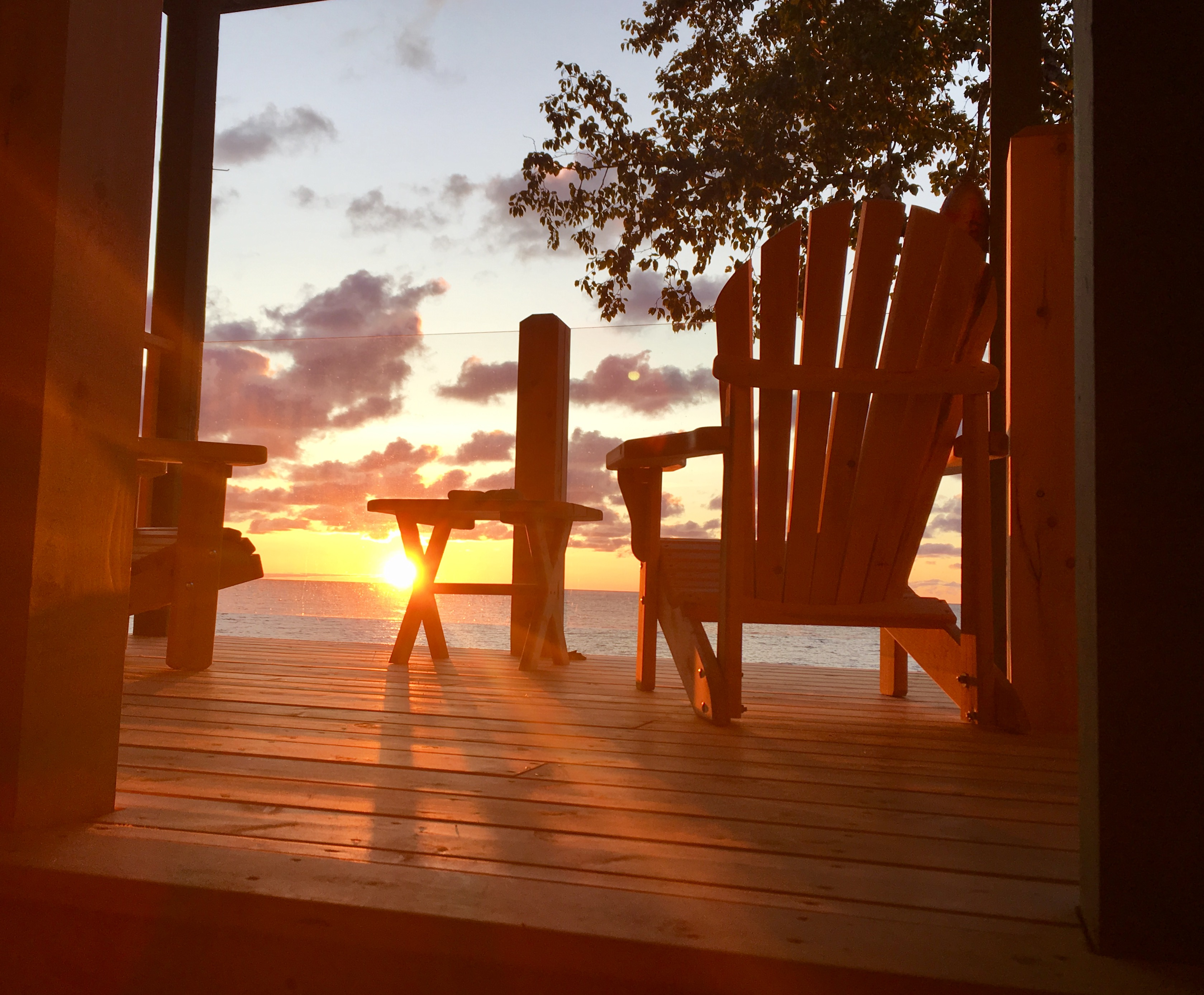Sunrise on the deck