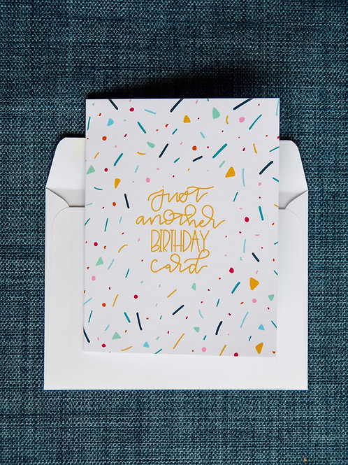 Just Another Birthday Card