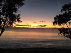Spectacular summer sunrise