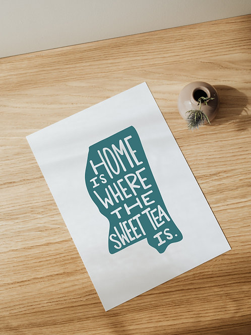 Home Is Where The Sweet Tea Is Print
