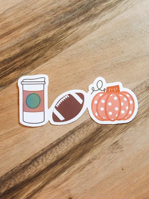 Fall Favorites Sticker