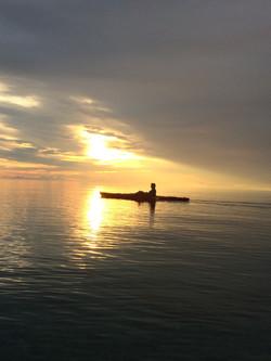 Sunrise kayaking on the Bay