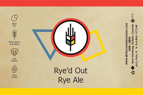 Rye'd Out Rye Ale 473ml can