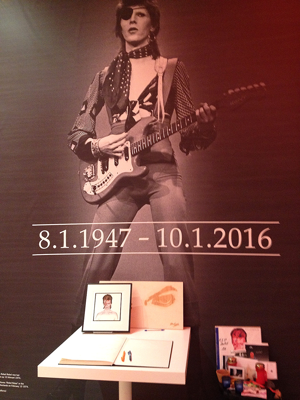 David Bowie Memorial Groningen Netherlands