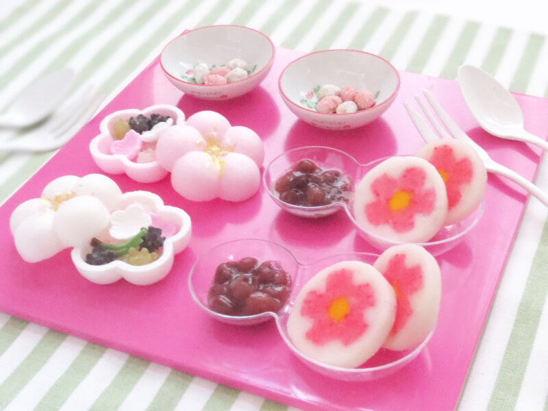 decorative mochi - Japanese dessert - how to make mochi